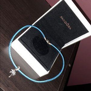 Pandora wrap Bracelet with Palm tree charm